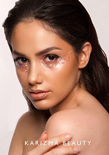 Iridescent Chunky Glitter ✮ KARIZMA BEAUTY ✮ Festival Glitter Cosmetic Face Body Hair Nails