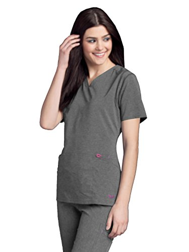 e414464bd7d Smitten Women's Rock Goddess V-Neck Scrub Top, Heather, Small