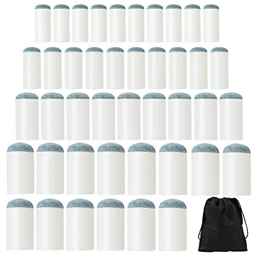 Elcoho 80 Pieces Slips On Pool Billiard Cue Tips-on Cue Tips Replacements 4 Size with Storage Bag (White, 9mm/10mm/12mm/13mm) - Tip Replacement Kit