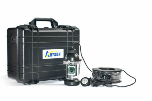 Anysun 200ft/60m Underwater Fishing Video 600tvl Sony CCD Camera Finder 0-360° View by Anysun