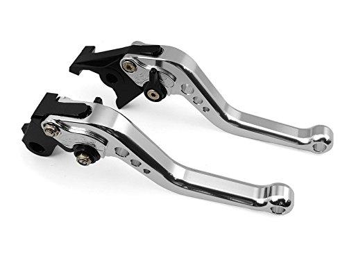 Hot-sales CNC Motorcycle Short (146mm) Brake & Clutch Levers Silver for Suzuki GSXR1000 2009 2010 2011 2012 (S-58orV-4/F35)