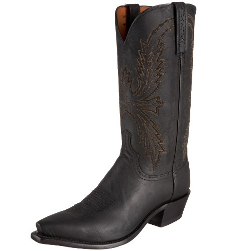 1883 by Lucchese Men's N1560.54 Western Boots,Black Burnish,13 D(M)US