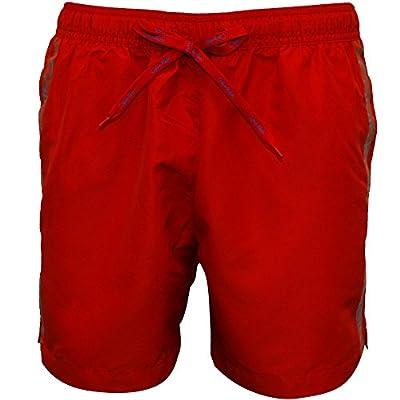 Calvin Klein Logo Tape Men's Swim Shorts, Salsa Red