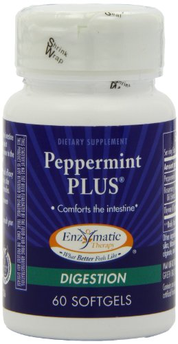 Enzymatic Therapy Peppermint Plus, 60 Softgels (Pack of 2)