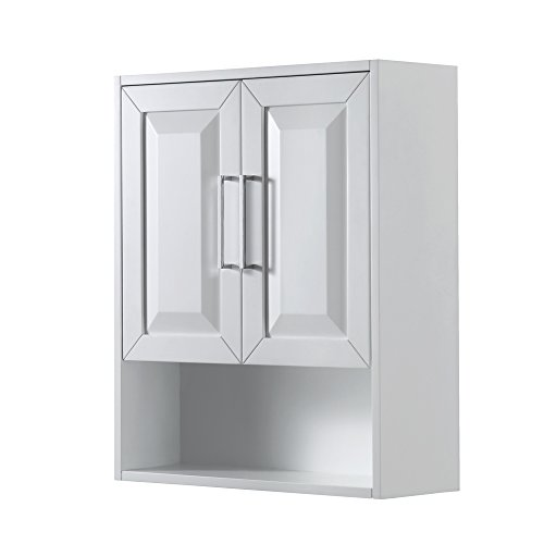 Wyndham Collection Daria Wall-Mounted Storage Cabinet in White