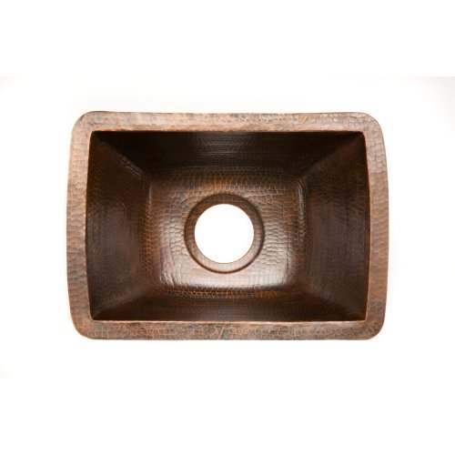 Premier Copper Products BRECDB3 Universal Rectangle Copper Sink with 3.5-Inch Drain Size, Oil Rubbed Bronze by Premier Copper Products (Image #1)