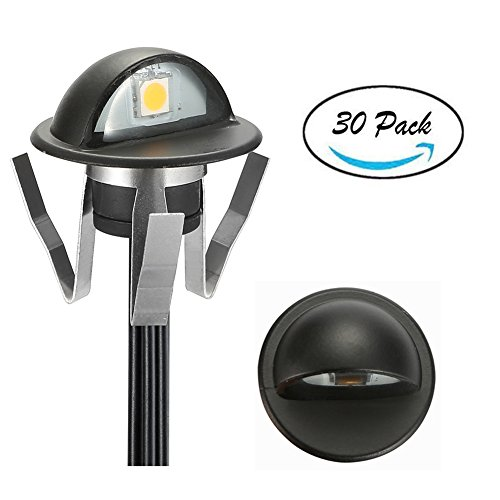 FVTLED Pack of 30 Low Voltage LED Deck Lights kit Dia. 1.38