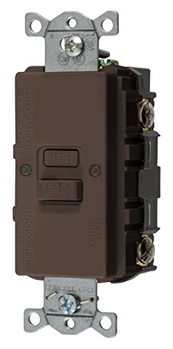 Bryant Electric GFBFST20 20 Amp 125V Commercial/Residential Self Test Faceless GFCI Receptacle, Brown ()