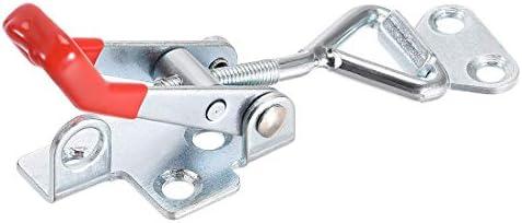 uxcell アイアンプルアクションラッチ 調整可能トグルクランプ ハンドグリップ 垂直クランプフック 亜鉛メッキ鉄材料製 220ポンド 1個