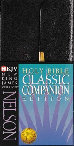 Classic Companion Bible-NKJV-Snap Flap: New King James Classic Companion Slimline Bible by Nelsonword (1994) Leather ()