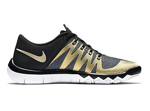 Nike Mens Gratis Trainer 5.0 V6 Schoenen Sb50 Superbowl 50 Zwart Metallic Goud Maat 11.5