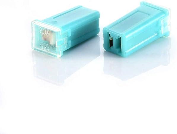 eléctrico UK Nuevo Pack de 14 X 25A Amp 30mm Vidrio Fusibles Auto Moto Caja de Fusible van