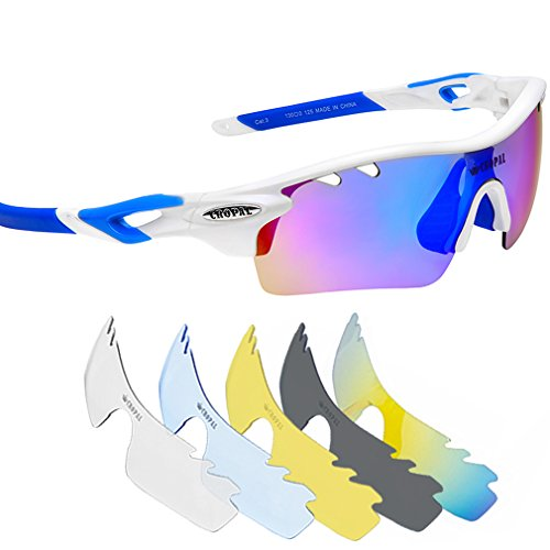 CROPAL Sports Sunglasses, Polarized Baseball Sunglasses for Cycling, Running, - Lifetime Sunglasses Guarantee