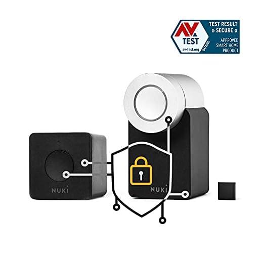 Nuki Combo 2.0 (Smart Lock y Bridge) | Apple HomeKit, IFTTT, Amazon Alexa, Google Home | Cerradura Inteligente vía Bluetooth | sensor de puerta | Abrepuertas Automático WLAN