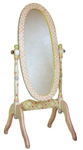 Teamson Crackled Rose Girls Standing Cheval Floor Mirror: Amazon.co ...