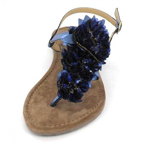 Queens blau Queens Sandalette Farbe Farbe Sandalette blau Sandalette Queens Farbe rPZwqrz