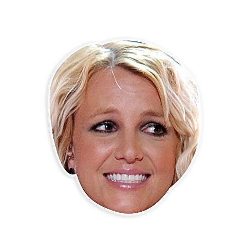 [Excited Britney Spears Mask - Perfect for Halloween, Masquerade, Parties, Events, Festivals, Concerts - Jumbo Size Waterproof] (Britney Spears Concert Costumes)