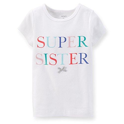 Carter's Little Girls Super Sister Tee (2T White)