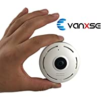 Vanxse CCTV 1.3MP 960P IP Camera, Panoramic 360 Degree Indoor Wireless WiFi Surveillance Security Network Camera with IR Night Vision/2-way Audio/Motion Detection Smart Phone view