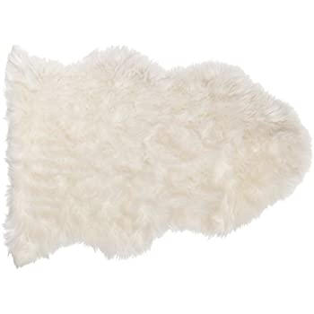 Amazoncom Nouvelle Legende Faux Fur Sheepskin Rug Single 20 in