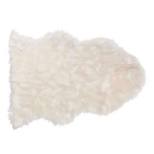 SLPR Home Collection Faux Sheepskin Rug (White)