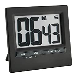 La Crosse Technology 38.2013.01 Digital Countdown Timer and Stopwatch, Black