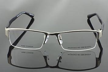 fe730496ac8 Amazon.com  Brand New Porsche Design 53mm P8231 Titanium Half Rim Silver Glasses  Frame  Health   Personal Care