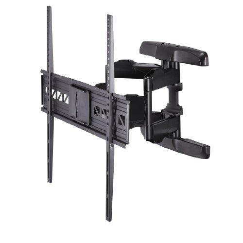 Hama TV Wandhalterung für große Fernseher bis 90 Zoll (119 - 229cm, vesa bis 800 x 600, vollbeweglich, neigbar, schwenkbar, extrem belastbar, Schwingungsdämpfer für klaren Sound) schwarz