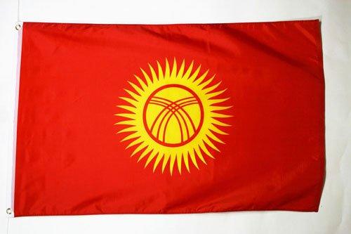 KYRGYZSTAN FLAG 3' x 5' - KYRGYSTANI FLAGS 90 x 150 cm - BANNER 3x5 ft - AZ FLAG