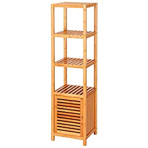 tall bathroom floor cabinet ollieroo 5 tier multifunctional bamboo 26973