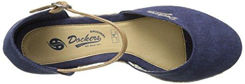 Dockers by Gerli 36is201-706670, Sandalias con Cuña para Mujer Azul (Dunkelblau 670)