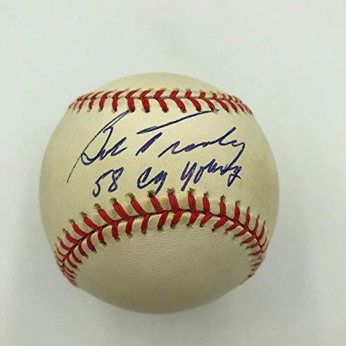 Cy Young Award - Autographed Bob Turley Ball - 1958 Cy Young Award American League - Autographed Baseballs