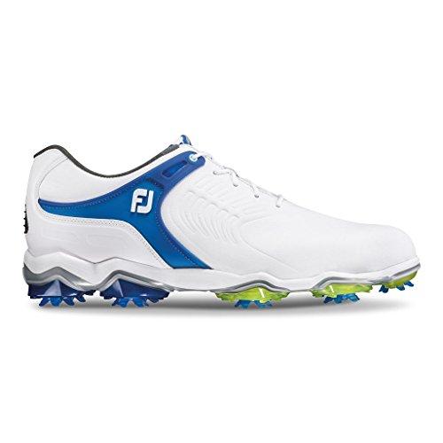 Pictures of FootJoy Tour-S Golf Shoes (9.5 White/Blue-Medium) 55301095M 1