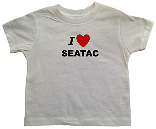 I LOVE SEATAC - SEATAC TODDLER - City-series - White Toddler T-shirt - size Small (2T)]()
