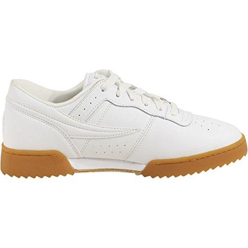 Fila Heren Originele Fitness Rimpeling Sneakers Wit / Wit / Gum