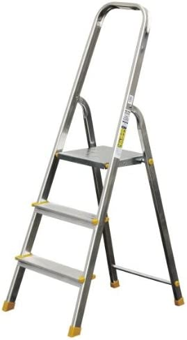 Escalera de aluminio 3 escalones Escalera de pintor Escalera multiusos klapptrittleitertüv/GS: Amazon.es: Bricolaje y herramientas