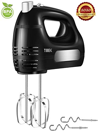 Buy Bargain Hand Mixer 6 Speed Mode, TIBEK Hand-Held Mixer with Turbo Button and 4 Stainless Steel A...