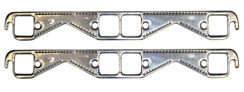 Proform 67921 Aluminum Exhaust Header Gasket with Square Ports for Small Block Chevy - Pair ()