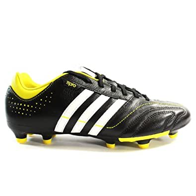 Adidas 11Nova TRX FG Soccer Cleats - Bright Yellow/Black/White (Mens) - 11