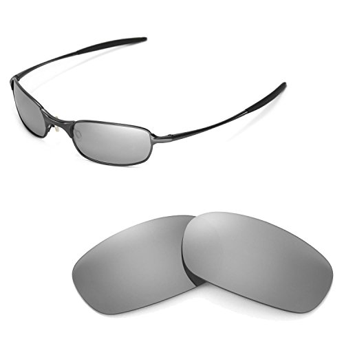 Walleva Titanium Polarized Replacement Lenses for Oakley Square Wire 2.0