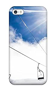 Flexible Tpu Back Case Cover For Iphone 5/5s - Mountain Ropeway Ski Resort
