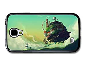AMAF ? Accessories Howl's Moving Castle Miyazaki Illustration Blue Sky case for Samsung Galaxy S4