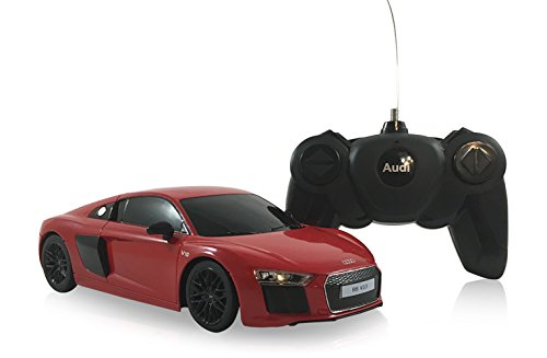 Audi R8 V10 Coupe 2015 Second Generation 1:24 Scale Radio Controlled Model Car (Red)
