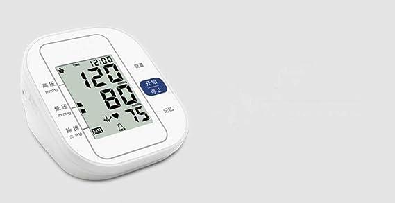 Tensiómetros Blood Pressure Monitor TensióMetro ElectróNico De PresióN Del Hogar De PresióN AutomáTica Del Brazo Superior Tipo EsfigmomanóMetro: Amazon.es: ...