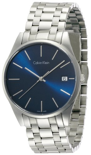 calvin klein men s quartz watch black dial analogue display calvin klein men s quartz watch black dial analogue display quartz stainless steel k4 n2114 n amazon co uk watches