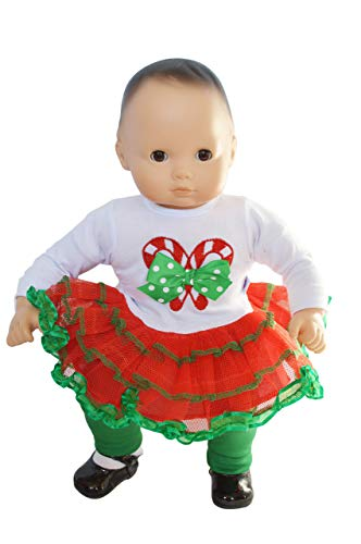 Baby Candy Doll (Brittany's Candy Cane Outfit fits Bitty Baby and Bitty Twin Dolls- 15 Inch Baby Doll Clothes)