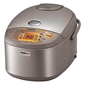 Zojirushi NP-HTC18 Induction Heating 10-Cup (Uncooked) Pressure Rice Cooker and Warmer