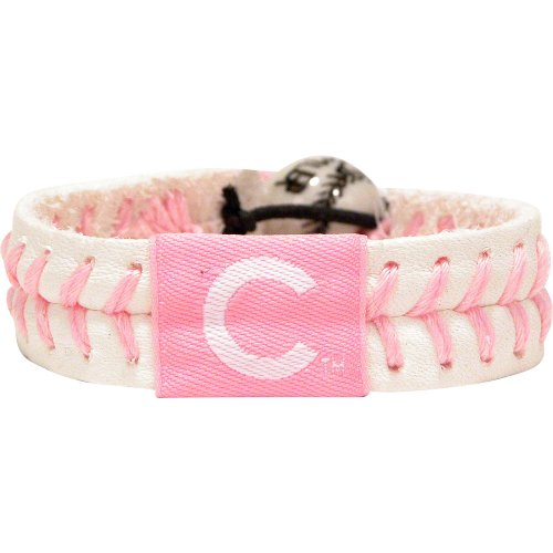 GameWear Chicago Cubs Pink Baseball Bracelet