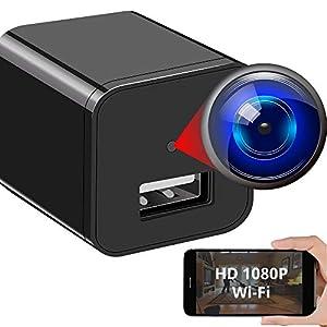 Flashandfocus.com 410gZaKpjsL._SS300_ Spy Camera Wireless Hidden WiFi Camera with Remote View - HD 1080P - Spy Camera Charger - Spy Camera Wireless - USB…