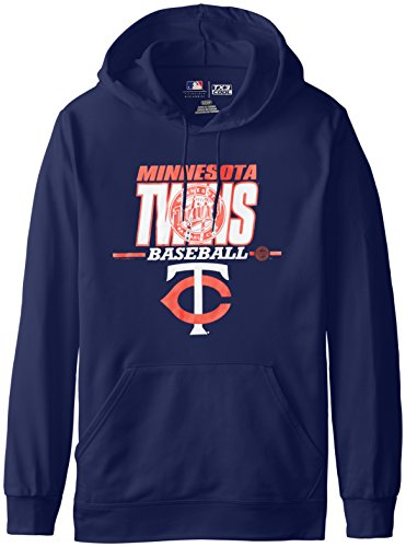 Fleece Minnesota Twins Pullover - VF LSG MLB Minnesota Twins Men's SA2 Fleece Hoodie, Navy, Small